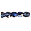 Fire polished 6mm Light sapphire Azuro Strung